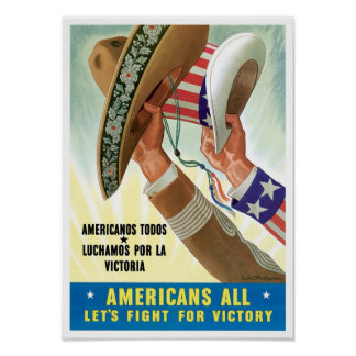 Americanos todos póster