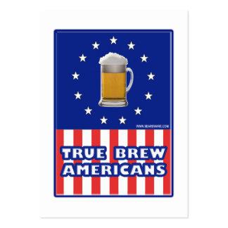 Americanos verdaderos del Brew Tarjetas De Visita
