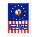 Americanos verdaderos del vino del Brew Plantilla De Tarjeta De Visita