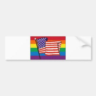 americanrainbowflagmagnet bumper sticker