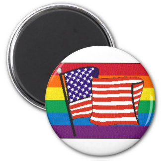 americanrainbowflagmagnet fridge magnets