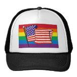 americanrainbowflagmagnet mesh hat