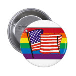 americanrainbowflagmagnet pin