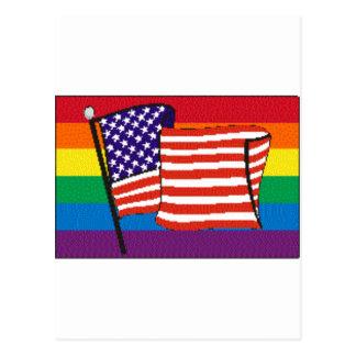 americanrainbowflagmagnet postcard