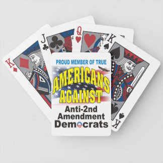 Americans Against Anti Second Amendment Democrats Bicycle Playing Cards