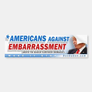 Americans Against Embarrassment Bumper Sticker