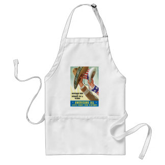 Americans All Let's Fight For Victory Adult Apron