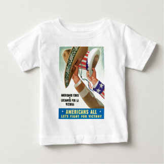 Americans All Let's Fight For Victory Baby T-Shirt