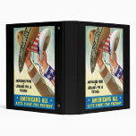Americans All Let's Fight For Victory Binder