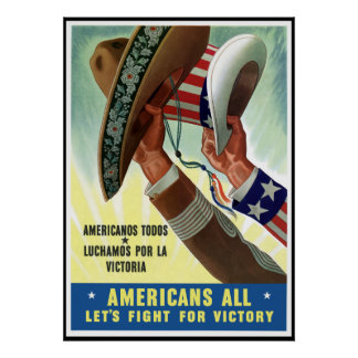 Americans All Let's Fight For Victory -- Border Print