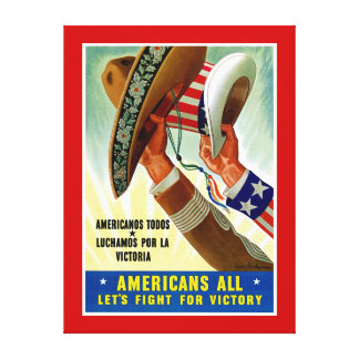 Americans All ~ Let's Fight for Victory Canvas Print