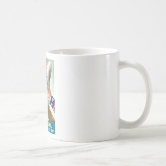 Americans All Let's Fight For Victory Coffee Mug