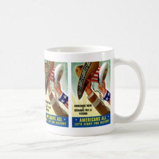 Americans All ~ Let's Fight for Victory Coffee Mug