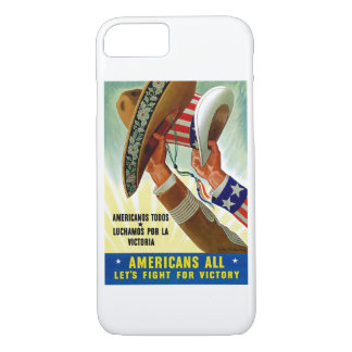 Americans All ~ Let's Fight for Victory iPhone 7 Case