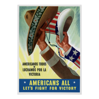 Americans All Let's Fight For Victory Print
