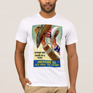 Americans All ~ Let's Fight For Victory T-Shirt