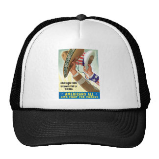 Americans All Let's Fight For Victory Trucker Hat