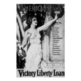 Americans All Victory Liberty Loan Poster