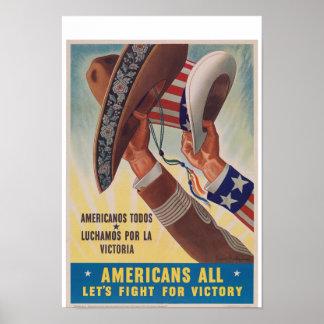 Americans All Vintage War Poster