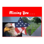 Americans are patriotic, Missing You . . . Postcard