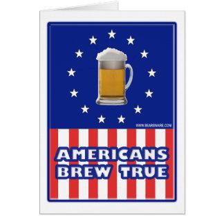 Americans Brew True Card