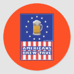 Americans Brew True Classic Round Sticker