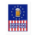 Americans Brew True Post Card