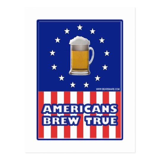 Americans Brew True Postcard