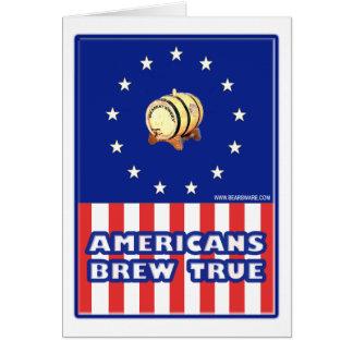 Americans Brew True Wine Card