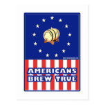 Americans Brew True Wine Postcard