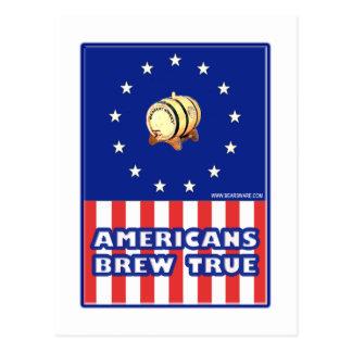 Americans Brew True Wine Postcard