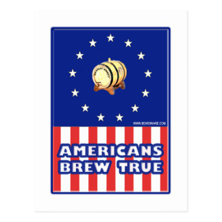 Americans Brew True Wine Postcards