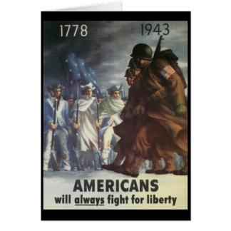 Americans Fight World War 2 Card