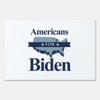 AMERICANS FOR BIDEN - png Lawn Signs