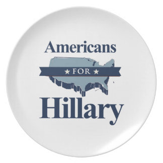 AMERICANS FOR HILLARY PARTY PLATES