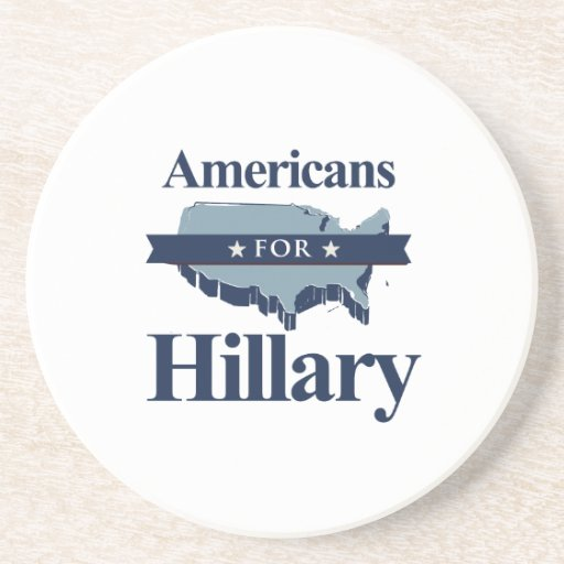 AMERICANS FOR HILLARY -.png Coaster