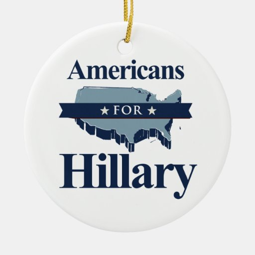 AMERICANS FOR HILLARY -.png Ornament