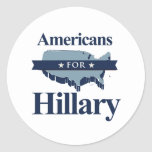 AMERICANS FOR HILLARY -.png Sticker