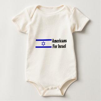Americans for Israel Baby Bodysuit