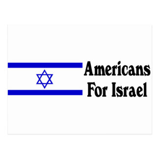 Americans for Israel Post Card