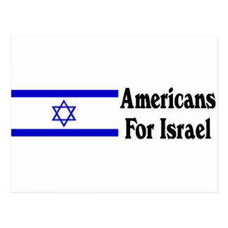 Americans for Israel Postcard
