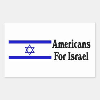 Americans for Israel Rectangular Sticker