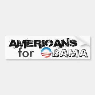 AMERICANS for OBAMA Car Bumper Sticker