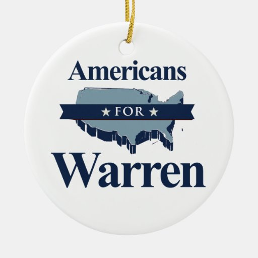 AMERICANS FOR WARREN - 2016.png Christmas Ornament