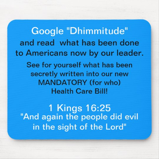 Americans Google Dhimmitude  Mousepad
