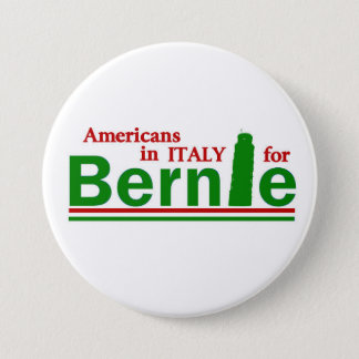 Americans in Italy for Bernie Pinback Button