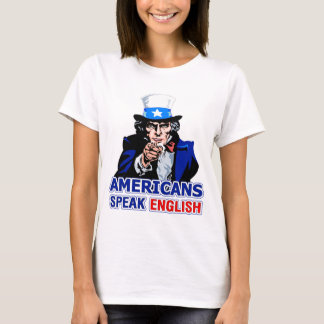 Americans Speak English Baby Doll T-Shirt