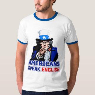 Americans Speak English Ringer T-Shirt