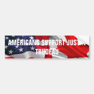 Americans Support Justin Trudeau Bumper Sticker