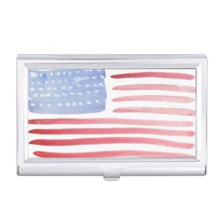 American Flag Patriotic Business Card Case